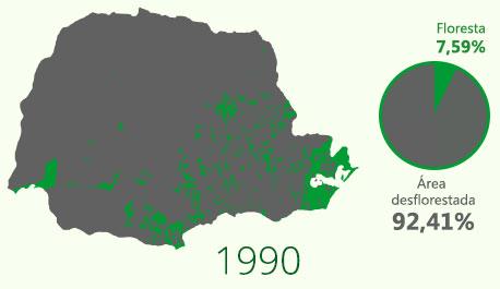 Floresta com Araucária em 1990