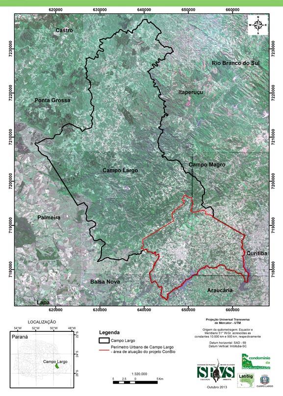 Mapa ConBio Campo Largo
